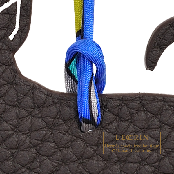 Hermes Petit H Chihuahua Brown/Blue Clemence leather/Epsom leather