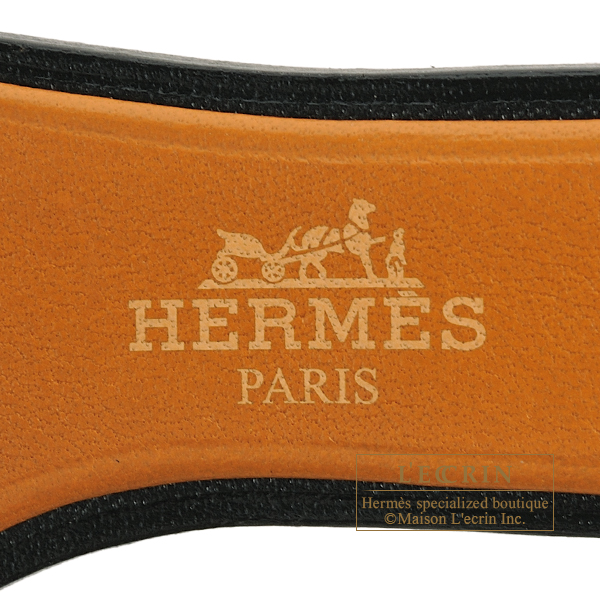 Hermes Sac Oran Nano Gold/Natural sable/Black Epsom/Butler/Vache Hunter leather