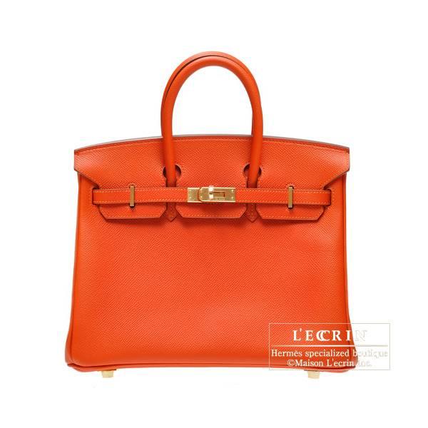Hermes Birkin Bag 25 Feu Epsom Leather Gold Hardware L Ecrin Boutique Tokyo