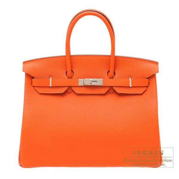 Hermes Birkin Bag 35 Feu Togo Leather Silver Hardware L Ecrin Boutique Tokyo