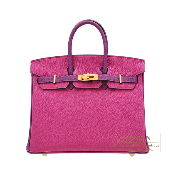 Hermes Personal Birkin bag 25 Rose purple/Anemone Togo leather Gold hardware